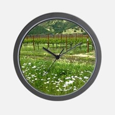 wine country silverado trail Wall Clock