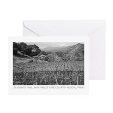 wine country silverado trail Greeting Cards (Pack