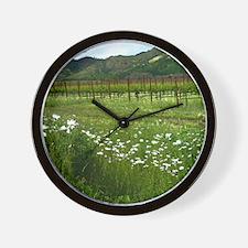 wine country silverado trail Wall Clock