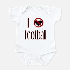 I Do Not Love / Heart Footbal Infant Creeper