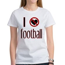 I Do Not Love / Heart Footbal Tee