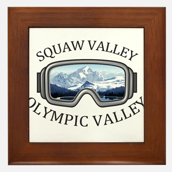 Squaw Valley - Olympic Valley - Cali Framed Tile