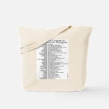 Comparative Religion Censored Tote Bag