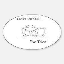 Looks Can't Kill (cat) Decal