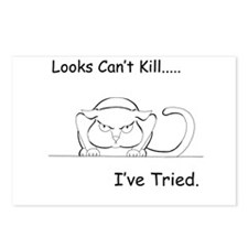 Looks Can't Kill (cat) Postcards (Package of 8)