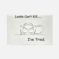 Looks Can't Kill (cat) Rectangle Magnet