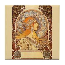 Alphonse Mucha Zodiac Art Tile Coaster