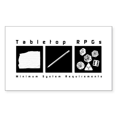 Tabletop RPG Rectangle Sticker
