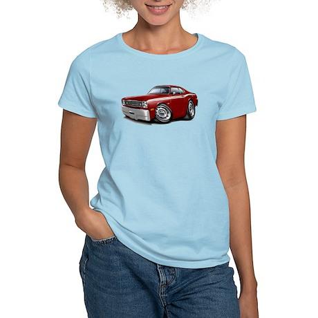 Duster Maroon-White Car Women's Light T-Shirt