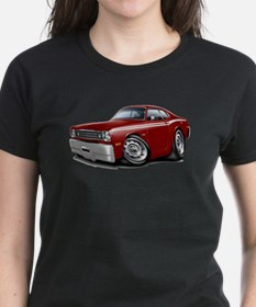 Duster Maroon-White Car Tee