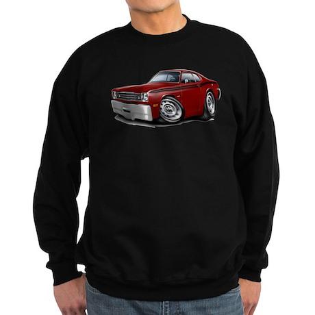 Duster Maroon-Black Car Sweatshirt (dark)