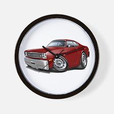 Duster Maroon-Black Car Wall Clock
