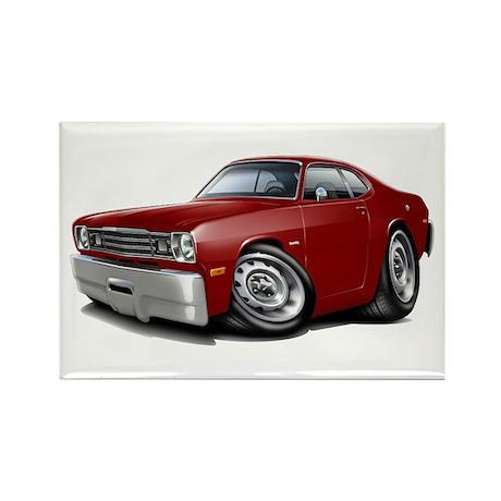 Duster Maroon-Black Car Rectangle Magnet