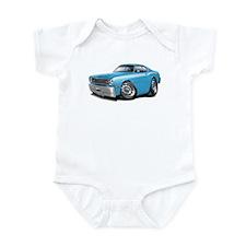 Duster Lt Blue-White Car Infant Bodysuit