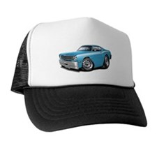 Duster Lt Blue-White Car Trucker Hat