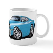 Duster Lt Blue-White Car Mug