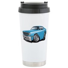 Duster Lt Blue-White Car Travel Mug