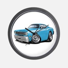 Duster Lt Blue-White Car Wall Clock