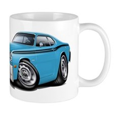 Duster Lt Blue-Black Car Mug