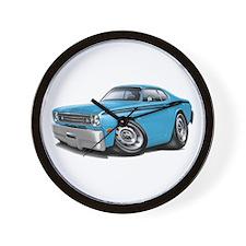 Duster Lt Blue-Black Car Wall Clock