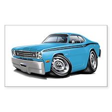 Duster Lt Blue-Black Car Decal