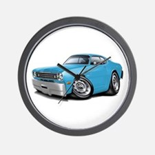 Duster Lt Blue-Black Car Wall Clock