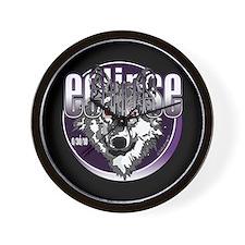 Eclipse Wolf Indigo by twibaby Wall Clock
