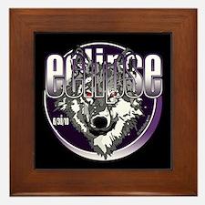 Eclipse Wolf Indigo by twibaby Framed Tile