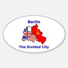 Berlin: The Divided City Oval Decal
