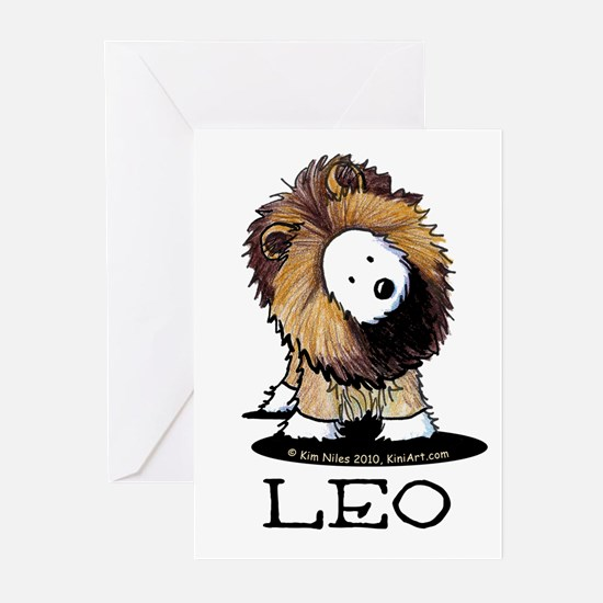 LEO Lion Westie Greeting Cards (Pk of 20)