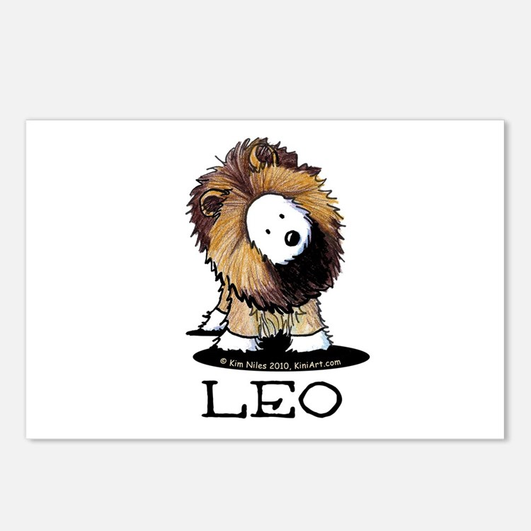 LEO Lion Westie Postcards (Package of 8)
