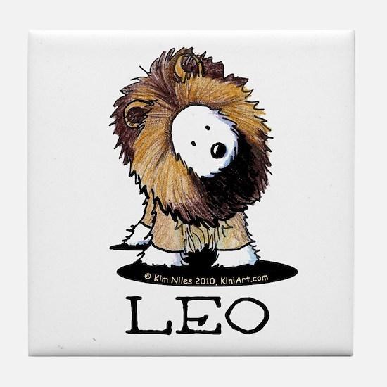 LEO Lion Westie Tile Coaster