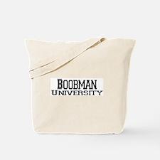 Boobman University Tote Bag