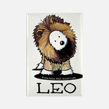 LEO Lion Westie Rectangle Magnet