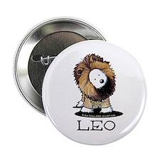 "LEO Lion Westie 2.25"" Button"