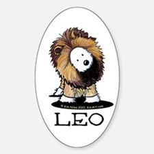 LEO Lion Westie Sticker (Oval 10 pk)