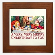 A VERY MERRY UNBIRTHDAY Framed Tile