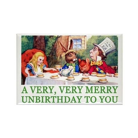 A VERY MERRY UNBIRTHDAY Rectangle Magnet (100 pack