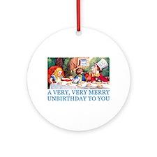 A VERY MERRY UNBIRTHDAY Ornament (Round)