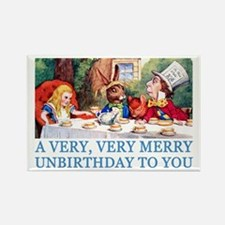 A VERY MERRY UNBIRTHDAY Rectangle Magnet