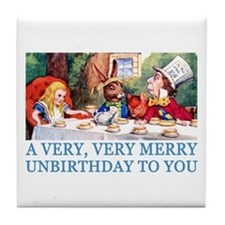 A VERY MERRY UNBIRTHDAY Tile Coaster