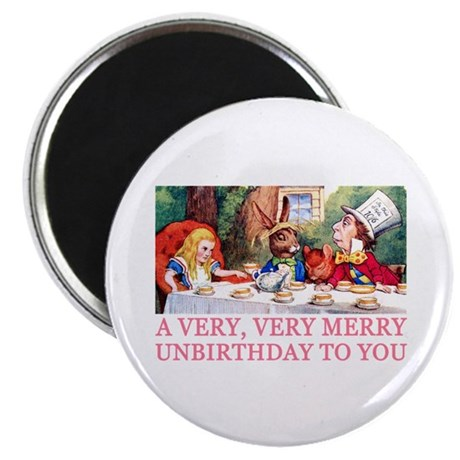 """A VERY MERRY UNBIRTHDAY 2.25"""" Magnet (100 pack)"""