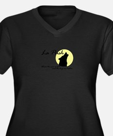 La Push Wolves Women's Plus Size V-Neck Dark T-Shi