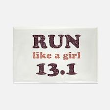 Run like a girl 13.1 Rectangle Magnet