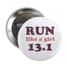 """Run like a girl 13.1 2.25"""" Button"""