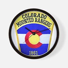 Colorado Mounted Rangers Wall Clock