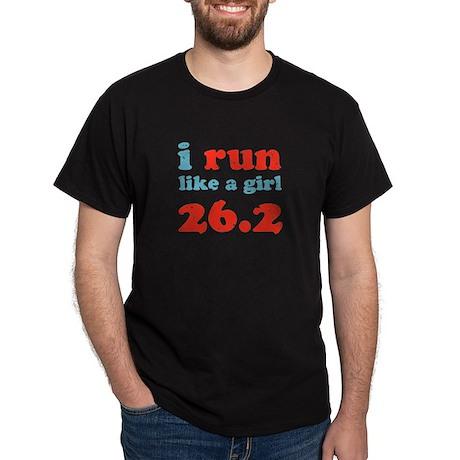 i run like a girl 26.2 Dark T-Shirt