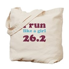 i run like a girl 26.2 Tote Bag