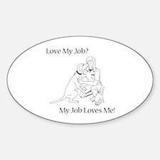 Veterinary Technician Design Sticker (Oval)