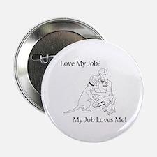 """Veterinary Technician Design 2.25"""" Button"""